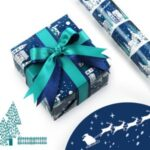 Christmas Kraft Gift Wrapping Paper Roll, Size: 50 x 70cm – Style A