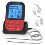 Digital Meat Thermometer Wireless Timer Food Thermometer with Dual Probes for Cooking BBQ