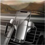 360° Rotatary Air Outlet Gravity Car Phone Bracket – Grey