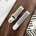 Colorful Silicone Smart Watch Band for Samsung Galaxy Gear S3/Watch 46mm/Huami Amazfit 1/2 / Amazfit GTR 47mm – White