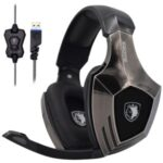 SADES A6 Bronze Version Stereo Gaming Headset USB Wired Over Ear Headphones