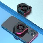 Portable Mobile Phone Gaming Cooler Gaming Radiator Stand Phone Cooling Fan