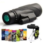 40X60 HD Lens Night Vision Portable Monocular Telescope with Tripod Phone Clip