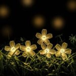 Peach Flower Light 50-LED 8-Mode Solar String Light Garden Path Yard Decor Lamp – Warm White
