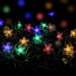 Peach Flower Light 50-LED 8-Mode Solar String Light Garden Path Yard Decor Lamp – Colorful