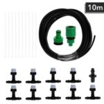 10m with 10 Nozzles Water Misting Cooling System Mist Sprinkler Nozzle Outdoor Garden Patio Greenhouse Plants Spray Hose Watering Kit With Faucetconnector – Size: 1