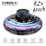 Flynova UFO Fingertip Flying Spinner Flight Gyro Decompression Toy for Adult and Kids – Black