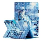 Light Spot Decor Patterned PU Leather Stand Shell Tablet Shell Case for iPad 10.2 (2019) – Wolf
