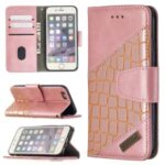 Crocodile Skin Assorted Color Style Leather Wallet Case for iPhone 6s / 6 4.7-inch – Rose Gold