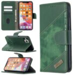 Color Matching Crocodile Skin Shell Leather Cover for iPhone 11 Pro Max 6.5 inch – Green