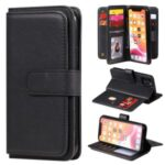 Multi-function 10 Card Slots Wallet TPU+PU Leather Phone Cover for iPhone 11 Pro 5.8 inch – Black