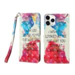 Light Spot Decor Patterned PU Leather Cell Phone Case for iPhone 12 Pro Max 6.7 inch – Sentence