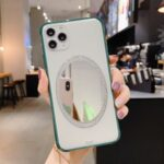 Makeup Mirror PC Shockproof Phone Cover for iPhone 11 Pro 5.8 inch – Green