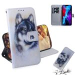 Pattern Printing PU Leather Wallet Stand Case for iPhone 12 Pro / iPhone 12 Max 6.1-inch – Wolf