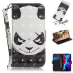 Light Spot Decor Pattern Printing Wallet Leather Cover Stylish Phone Case for iPhone 12 5.4 inch – Panda