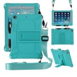 Kickstand PC Soft Silicone Case with Hanging Rope for Apple iPad mini (2019) 7.9 inch/4/3/2/1 – Cyan