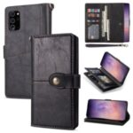 Retro Leather Wallet Cover with Strap for Samsung Galaxy Note20 Ultra/Note20 Ultra 5G – Black