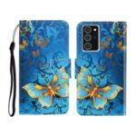 Pattern Printing Flip Cover Leather Wallet Stand Shell for Samsung Galaxy Note 20/Note 20 5G – Butterflies