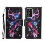 Pattern Printing Stand Shell Wallet Leather Flip Case for Samsung Galaxy Note 20/Note 20 5G – Luminous Butterfly