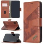 Assorted Color Crocodile Skin Leather Wallet Case for Samsung Galaxy A10 / M10 – Brown