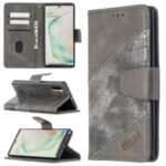 Crocodile Skin Assorted Color Leather Wallet Case for Samsung Galaxy Note 10 5G / Note 10 – Grey