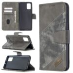 Assorted Color Crocodile Skin Leather Wallet Case for Samsung Galaxy A71 SM-A715 – Grey