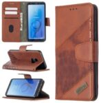 Crocodile Skin Assorted Color Style Leather Wallet Case for Samsung Galaxy S9 – Brown