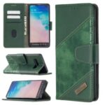 Crocodile Skin Assorted Color Style Leather Wallet Case for Samsung Galaxy S10 Plus – Green