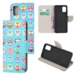 Pattern Printing Cross Texture Leather Wallet Case for Samsung Galaxy M31s – Multiple Owls