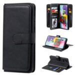 Multi-function 10 Card Slots Leather Wallet Case for Samsung Galaxy A51 SM-A515 – Black