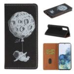 Pattern Printing Auto-absorbed Leather Case for Samsung Galaxy Note20 Ultra/Note20 Ultra 5G – Spaceman