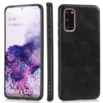 Crazy Horse Texture PU Leather Coated TPU Cover for Samsung Galaxy S20 – Black