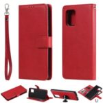 Detachable 2-in-1 Wallet Leather Cover for Samsung Galaxy A91/S10 Lite/M80S – Red