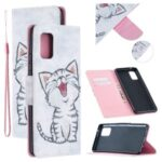 Pattern Printing Leather Wallet Case Cover for Samsung Galaxy A51 5G SM-A516 – Happy Cat