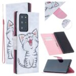 Pattern Printing Magnetic Leather Stand Case for Samsung Galaxy Note20 Ultra/Note20 Ultra 5G – Happy Cat