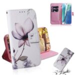 Pattern Printing PU Leather Wallet Case for Samsung Galaxy Note 20 5G / Galaxy Note 20 – Beautiful Flower