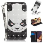 Light Spot Decor Pattern Printing Leather Case for Samsung Galaxy Note20 Ultra 5G / Galaxy Note20 Ultra – Panda