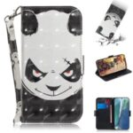 Pattern Printing Light Spot Decor Leather Phone Case for Samsung Galaxy Note 20/Note 20 5G – Angry Panda