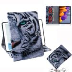 Pattern Printing Wallet Leather Tablet Case for Samsung Galaxy Tab S7 T870 – Tiger Face