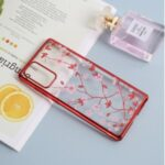 SULADA Electroplating Rhinestone Decoration Patterned Hard PC Case for Samsung Galaxy Note20 Ultra/Note20 Ultra 5G – Red