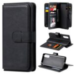 Multi-function 10 Card Slots Leather Wallet Case for Sony Xperia 10 II – Black