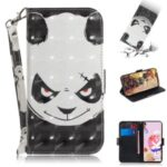 Pattern Printing Light Spot Decor Leather Wallet Casing with Lanyard for LG K41S / LG K51S – Panda