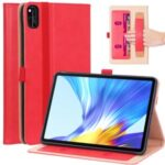WY-2099 Business Style Flip Leather Stand Tablet Case with Card Slots for Honor V6 5G 10.4 – Red