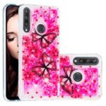 Pattern Printing Glitter Powder Quicksand TPU Back Case for Huawei Y6p – Butterflies