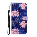Light Spot Decor Patterned Magnetic Leather Stand Case for Huawei P40 lite 4G – Beautiful Flowers