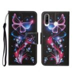 Pattern Printing Stand Phone Cover Wallet Leather Case for Huawei Y6p – Luminous Butterfly