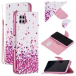 Pattern Printing Leather Wallet Stand Case for Huawei Y5p – Hearts