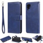 Solid Color Detachable 2-in-1 Leather Cover Case for Huawei P40 Pro – Blue