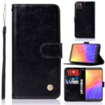 Premium Vintage Wallet Leather Stand Case for Huawei Y5p/Honor 9S – Black