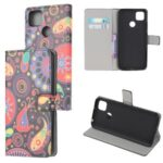 Pattern Printing Wallet Leather Stand Case for Xiaomi Redmi 9C – Paisley Flowers